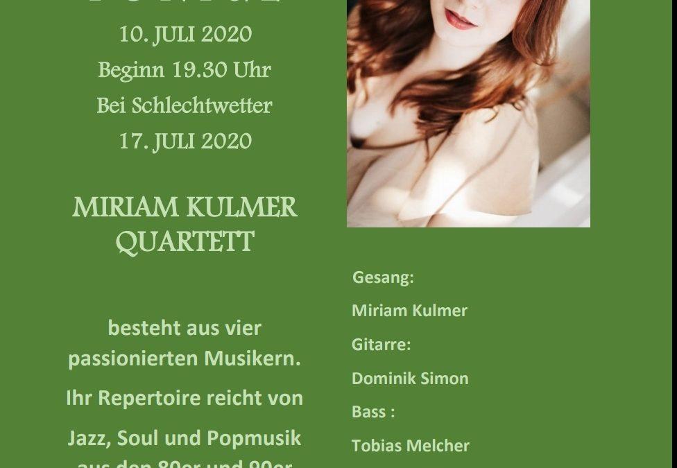 ,,Miriam Kulmer Quartett´´ am 10. Juli 2020